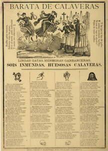 Jose Guadalupe Posada Cheap skulls Giclee Art Paper Print Poster Reproduction