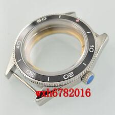 41mm Sapphire Glass Brushed Case ceramic Bezel Fit ETA 2824 2836 Movement 065