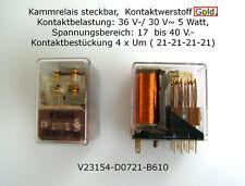 Siemens Relais mit Goldkontakten 17-40 V 4 x Um Business & Industrie Sammeln & S