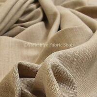 2 Metres Of Soft Plain Chenille Upholstery Material Cream Colour Curtain Fabric