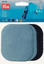 Jeans Flicken Bügelflicken 9 x 8 cm je 2 hell / dunkel blau Prym 929290 Patches
