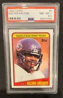 1988 Topps Football #5 Walter Payton Record Breaker PSA 8.5 NM-MT+ Bears HOF