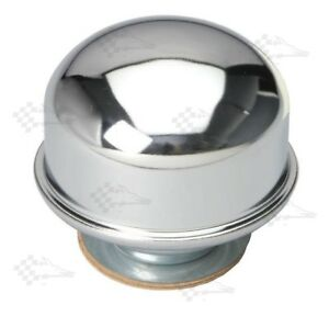 Chrome Oil Filler Breather Cap - Twist In / On Style