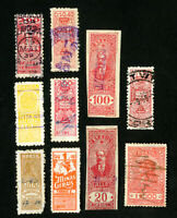 Brazil Stamps Lot of 10 Early Revenues