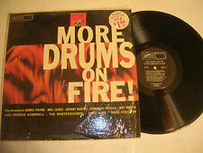 MORE DRUMS ON FIRE LP - WORLD PACIFIC - W/ MEL LEWIS, ZOOT SIMS, RUSS FREEMAN ++