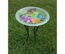 Butterfly Trio Glass Birdbath with stand