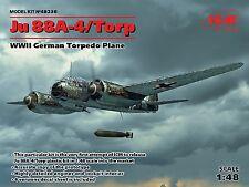 ICM 1/48 Ju 88A-4/Torp WWII German Torpedo Plane # 48236