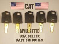 (5) CAT Keys Caterpillar Excavator, CAT Dozer, CAT Roller Key, CAT Backhoe