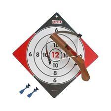 Armbrust klein Holz für Kinder Kinderarmbrust mit 4 Pfeilen 2 rot und 2 blau
