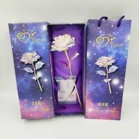 New Galaxy Rose Flower Valentine Day Lovers Gifts Romantic Flower With Love Base