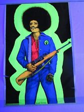 Vintage Blacklight Poster BLACK PANTHER Civil Rights Geo Stowe Jr Art VERY RARE