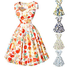 FLORAL Vintage Swing Evening 50's Dress Housewife Pin Up Cocktail Party Dresses