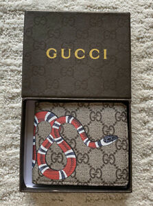 GG Supreme Snake Symbol Half Webbing Wallet (PLEASE READ DESCRIPTION)