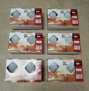 NEW Sylvania 100W Incandescent Light Bulbs - Soft White - A19 - 24 bulbs