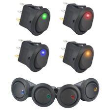 S882 - SET 20 piezas Interruptor On / Rojo Amarillo Verde Azul Iluminado 12-16v