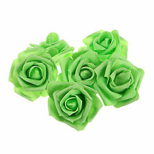 10pcs Green Foam Roses Artificial Flower Wedding Bride Bouquet Party Decor