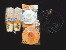 New Halloween Lot Party Cups Dixie Cats Wire Spider Basket 2 Light Paper Lantern