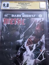 Batman Dark Knights Metal 6 Mattina Variant CGC 9.8 Signed Capullo Snyder 5/18