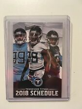 TENNESSEE TITANS 2018 FOOTBALL POCKET SCHEDULE 20TH. ANNIVERSARY COCA COLA - NEW