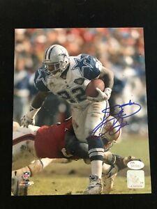 Emmitt Smith Signed Autographed 8x10 Action Photo Dallas Cowboys - JSA # 335682