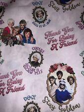 Custom Golden Girlies Pink  1 Yard 💯 % Cotton  Fabric FREE Shipping!
