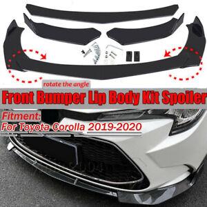 Car Front Bumper Lip Splitter Carbon Fiber For Toyota Corolla Hatchback 01-2021