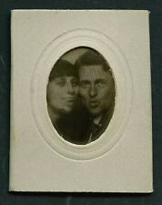 French 1920s Lenticular COUPLE Make FACES Animated WIGGLE Photo ~ PARIS Latest!
