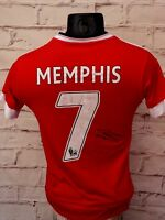 Maillot MANCHESTER UNITED MU signed MEMPHIS DEPAY foot ultras