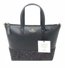 Kate Spade Greta Court Ina Black Glitter Crossbody Bag WKRU5610 $169