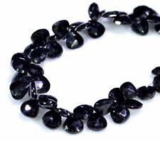 Natural Black Spinal Pear Briolette Shape Gemstone Beads String Strands