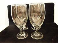 Vintage stemware goblets clear wine glasses set of 4