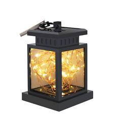 Solar Powered Led Lantern Hanging Light Outdoor String Lamp Yard Garden Decor