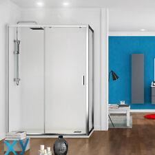 Box doccia porta fissa + anta scorrevole 70x120 cm h 200 cm