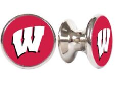 WISCONSIN BADGERS NCAA DRAWER PULLS / CABINET KNOBS