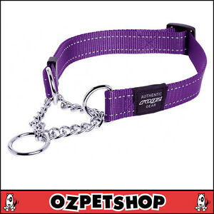 Rogz Utility Control Half Check Dog Obedience Collar - 8 Colours 3 Sizes