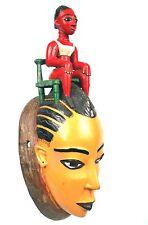 Art Africain Tribal - Masque Baoulé Peint - Région de Bouaké - 31,5 Cms ++++++++