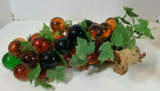"Vintage Lucite Grapes Grape Cluster Large 15"" Long with Large Grapes"