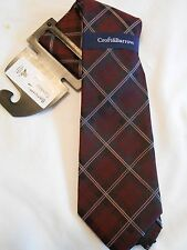 Croft & Barrow Silk Blend Red Plaid Neck Tie SR$34 NEW