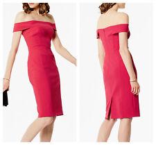 c3614235dbfc Karen Millen Red Raspberry Pink off The Shoulder Dress Size 10 -