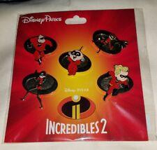 Disney Pins Pixar THE INCREDIBLES 2 Pin Booster Pack 5 Pin set NEW  FREE SHIP