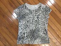 Zenergy Chicos Women's Leopard Print T-shirt Knit Top Blouse Size 0