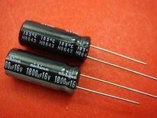 10 OEM Japan Nichicon 16v 1800uf Electrolytic Capacitor