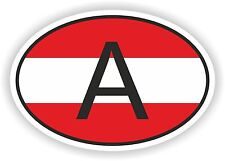 OVAL AUSTRIAN FLAG WITH A COUNTRY CODE STICKER AUSTRIA AUTO MOTO TRUCK LAPTOP