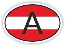 Oval austriaca bandera con un código de país de la etiqueta engomada Austria Auto Moto Camioneta Laptop