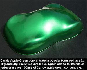 2 Grams Candy Apple Green Powder Hot Rod Kandy Spray Gun Airbrush Auto Paint