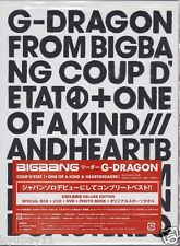 G-DRAGON COUP D'ETAT +ONE OF A KIND&HEARTBREAKER Limited Edition 2 CD DVD Japan