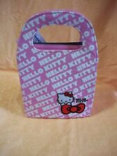 BORSA in TESSUTO RIGIDO ROSA LOGATA HELLO KITTY  cod.3904