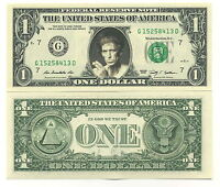 KEITH RICHARDS - VRAI BILLET de 1 DOLLAR US ! Collection The ROLLING STONES Rock