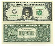KEITH RICHARDS - VRAI BILLET de 1 DOLLAR US ! Collection The ROLLING STONES Rock