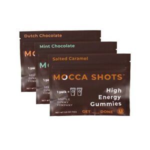 High Energy Mocca Shots Variety Pack -3 Packs, 3x2 Shots, 200mg Caffeine/serving